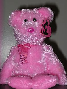 Ty Pinkys Beanie Baby DAZZLER the Pink Bea RETIRED. 8c8b62de6016