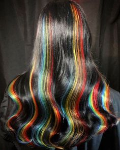 Hair Color Purple, Hair Dye Colors, Cool Hair Color, Green Hair, Hair Streaks, Aesthetic Hair, Dye My Hair, Hair Inspiration, Cool Hairstyles