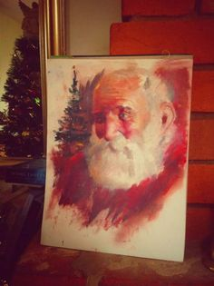Father Christmas Painting| Ed Cooper| Eds art Classes