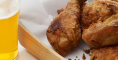 Beer-Battered Buttermilk Fried Chicken found at Kitchen Daily
