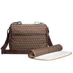 Brown  FF  Logo Baby Changing Bag (32cm) d7316ec774029