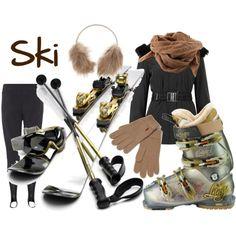 Love this ski gear in black& neutral...