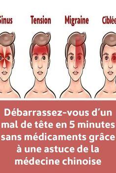 Débarrassez-vous d'un mal de tête en 5 minutes sans médicaments grâce à une astuce de la médecine chinoise