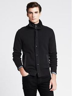Black Sweater Jacket