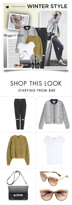 """Happily Grey"" by elske88 ❤ liked on Polyvore featuring OXYDO, Topshop, Monki, H&M, Acne Studios and Proenza Schouler"