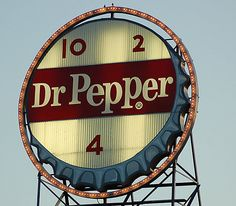 This collection of Dr. Pepper recipes is lovingly dedicated to my daughter - a Dr. Pepper addict - who opens her first can shortly before she opens her eyes in the morning. It turns out that you don't have to limit your Dr. Pepper consumption to. Old Neon Signs, Vintage Neon Signs, Old Signs, Coca Cola, Pepsi, Dr. Pepper, Pepper Jelly, Roadside Attractions, Roadside Signs