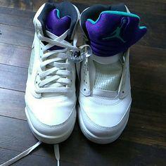 competitive price 3ca78 57946 Jordan Shoes   White Purple And Aqua Green Jordan   Color  Purple White    Size  6.5b