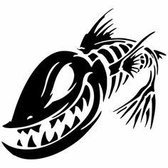 Buy Personality Fish Skeleton Skull Fishing Car Window Vinyl Decal Sticker Funny Motorcycle Stickers 6 Colors at Wish - Shopping Made Fun Funny Motorcycle, Motorcycle Stickers, Car Window Stickers, Car Stickers, Sticker Ideas, Window Decals, Accessoires Kayak, Fish Skeleton, Monster Car