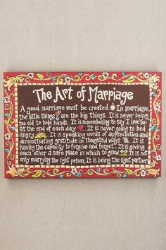 Art of Marriage Canvas