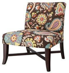 Owen X Base Slipper Chair - Multicolored Floral : Target