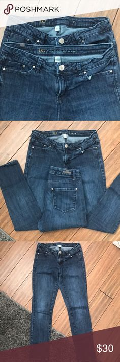 "SALE🔻2PAIRS of LC Lauren Conrad S6 Skinny Jean Worn but lots of life left! Both pairs are the same. Inseam is 27.5"", I usually fold up to crop. LC Lauren Conrad Jeans Skinny"