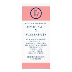 DealsArt Deco Wedding Invitation Coral Navy Blue WHitetoday price drop and special promotion. Get The best buy