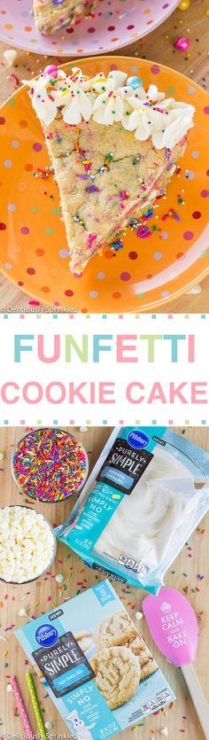 Funfetti Cookie Cake