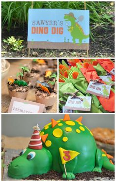 Dino-mite 3rd Birthday Bash via Kara's Party Ideas | Check out this and many other fun dinosaur themed parties today! KarasPartyIdeas.com (3)