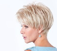 The Toni Brattin Jazzy Wig features a modern, on-trend custom cut that reflects fashion and style made easy. Short Thin Hair, Short Layered Haircuts, Short Hairstyles For Thick Hair, Short Grey Hair, Haircuts For Fine Hair, Short Hair With Layers, Short Hairstyles For Women, Short Hair Styles, Short Hair Over 60