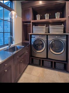 Always looking for efficient laundry room ideas...