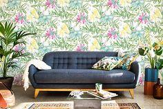 Hawaiian floral wallpaper - freshome.com