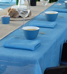 Canvas Cloth and Bowl Libeco Linen and Cast Ceramics Home Collection