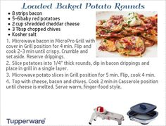 Loaded baked potato rounds  in micro grill pro