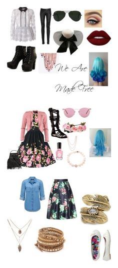 """""""Jessalyn"""" by love-is-forever-001 ❤ liked on Polyvore featuring self-portrait, Balmain, Ray-Ban, Lime Crime, alfa.K, FRACOMINA, Top Guy, Oliver Peoples, Henri Bendel and Matara"""