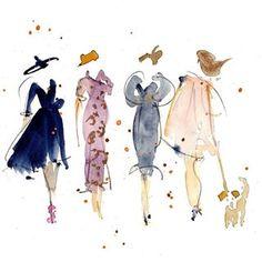 lLadies #watercolorsketch #watercolorillustration #fashioninspiration #fashionillustration #instaart #fancydress #weddinginspiration #aquanell #lyonnaise #figurepainting