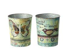 El mejor uso para estos recipientes mamá lo decidirá. Son perfectas para la mamá de estilo 'vintage' amante de la decoración.