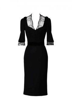 love...Collette Dinnigan Lace Insert short sleeve dress