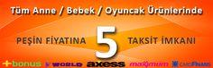 Anne / Bebek / Oyuncak Peşin Fiyatına 5 Taksit... http://www.bitmedentikla.com/Anne--Bebek--Oyuncak,LA_1973-2.html#labels=1973-2