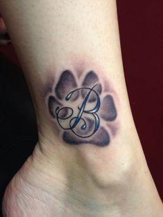 Paw Print Heart Tattoo | Latest Dog Paw Print Tattoos Ideas