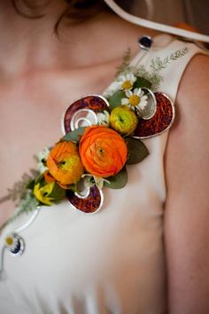 A shoulder corsage by Becky Sue