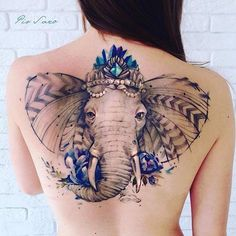 A collection of beautiful and cute elephant tattoo designs for women. Get small elephant tattoos, tribal, baby elephant tattoo, elephant head tattoos designs Hai Tattoos, Neue Tattoos, Body Art Tattoos, Tattoo Girls, Girl Tattoos, Tatoos, Watercolor Elephant Tattoos, Elephant Tattoo Design, Tattoo Watercolor