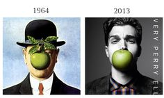 The Son of Man by Rene Magritte, 1964 and Perry Ellis Fall Winter 2013 Campaign by Daniel Jackson.