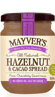 For the chocolate lovers- an alternative to sugar packed Nutella!  Can buy at Coles :)