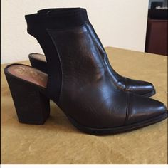 Vince Camuto backless bootie Size 8 worn twice. Vince Camuto Shoes Ankle Boots & Booties