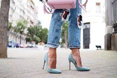 stilettos verde esmeralda glitter