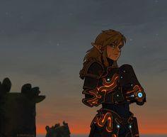 Link Guardian armor   Legend of Zelda Breath of the Wild