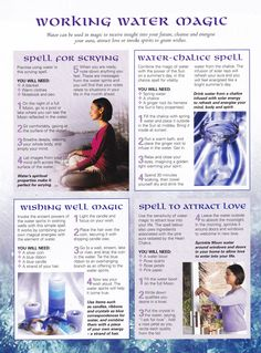Magick Spells:  #BOS Working #Water #Magic page.
