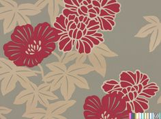 Hirohama Floral Leaves [ROP-73573] : Designer Wallcoverings™
