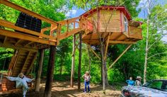 "Sleep in a treehouse!  Pope's Creek Ranch in Lebanon, Kentucky is the place to do just that and in comfort!  There are trails perfect for hiking, biking and bird watching, as well as areas for primitive camping, ""glamping"" (glamorous camping – teepees, platform tents and an adult treehouse) and RV camping.   #kentucky #treehouse #glamping"