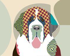 Saint Bernard Art Print   Saint Bernard Painting by iQstudio