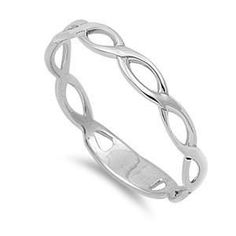 .925 Sterling Silver Abstract Wave Fashion Ring Size 4 5 6 7 8 9 10 NEW