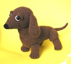 Pdf Crochet Pattern OSCAR the WEINER DOG