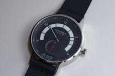 NOMOS Glashütte Autobahn in nachtblau Red Dot Design, Smart Watch, Watches, Accessories, Gnomes, Smartwatch, Wrist Watches, Wristwatches, Tag Watches