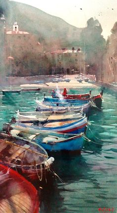 "Alvaro Castagnet, ""VENECIA"", 113 cm x 67 cm. Alvaro is another of of the modern impressionist masters of watercolor. His work is bold and atmospheric in a truly unique and innovative way!"