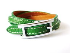 Green Leather Bracelet, starting at $8 in Jewelry on 8/4 @ 9AM PT.