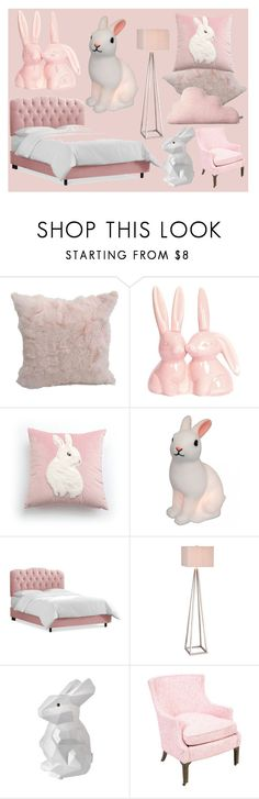 """""""Pink and White Rabbit Room!"""" by sllamma ❤ liked on Polyvore featuring interior, interiors, interior design, home, home decor, interior decorating, Catalina, Pols Potten and Donna Wilson"""