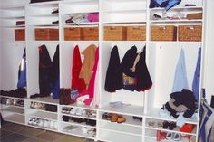 Garage Mudroom Idea - Like the Shoe Storage