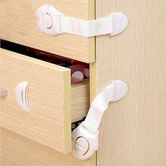 Royalr 2Pcs Drawer Cupboard Wardrobe Door Safe Lock For Baby Color Random