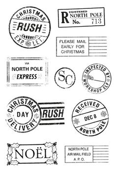 Postmarks Clear Stamps - Twig And Berry - KaiserCraft