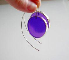 Big Silver EarringsLong Sterling Silver Earrings by IvanaVucinovic